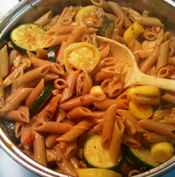 whole wheat pasta with squash